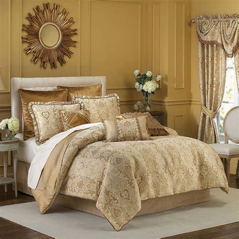 Gold Bedding Sets Croscill Excelsior 4 Comforter Set Gold B511 Ebay