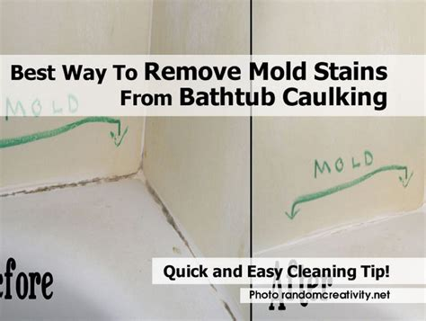 best way to remove mold stains from bathtub caulking