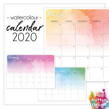 printable  calendar monthly western australia wa watercolour design