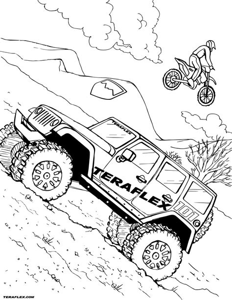 coloring pages jeep wrangler coloring book jeep jeep coloring page coloringcrew jeep
