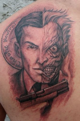 2 face tattoo design twoface by pastor tattoonow