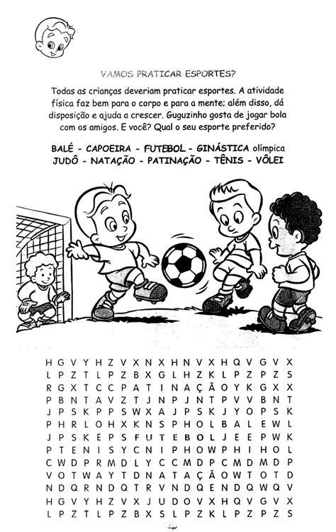 Lição de casa: caça palavras com textos