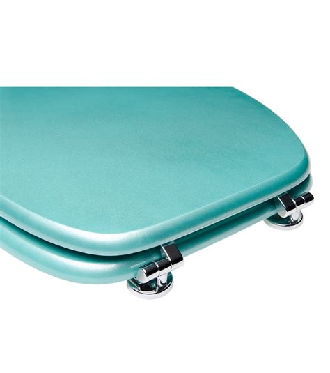 commode turquoise toilet seat glittering turquoise