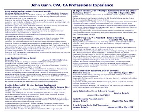 resume format for ca articleship