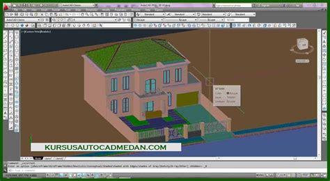 tutorial gambar autocad tutorial desain rumah dengan autocad pdf house q