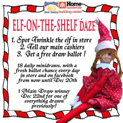 printable elf on the shelf rules elf on the shelf in december granderie home hardware