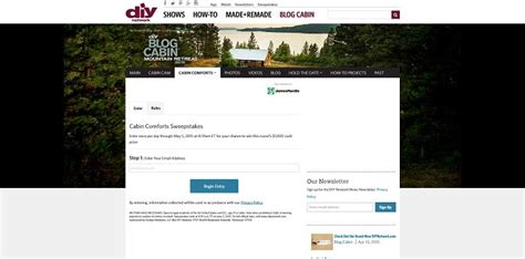 Diy Network Cabin Sweepstakes by Diy Cabin 2015 Sweepstakes Html Autos Post