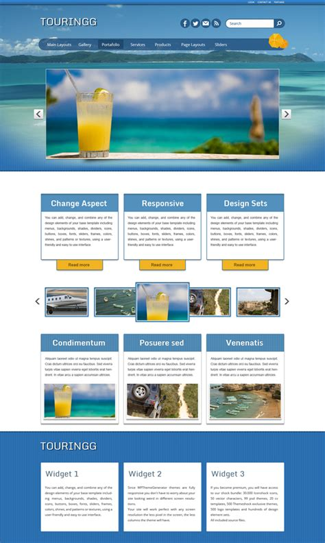 wordpress themes with video tourism wordpress theme