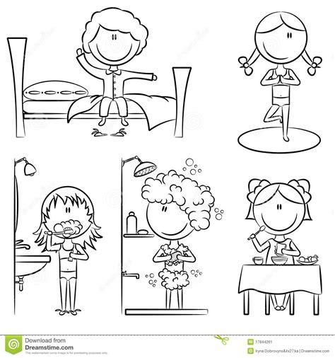 Pigeon Liner Isi 100 Sheets het dagelijkse leven de meisjes de ochtend stock