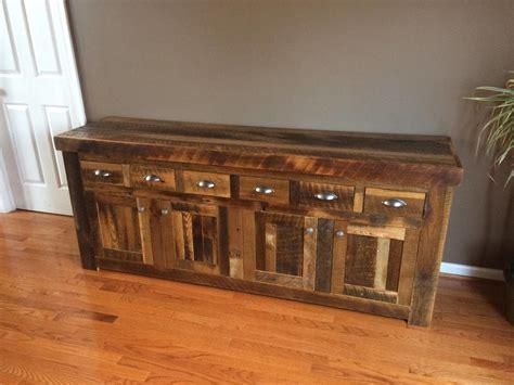 reclaimed oak rustic country  drawer buffet  sideboard  barnwoodfurniture  barnwood