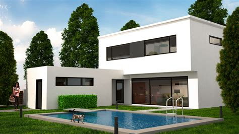 3d home decor design house 3d view modern house