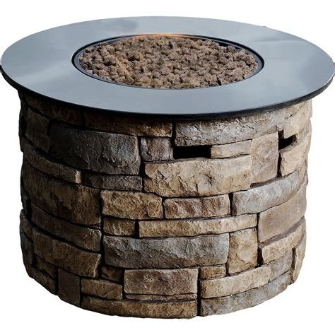 Bond Firepits Bond Canyon Ridge 50 000 Btu Round Liquid Propane Gas Fire