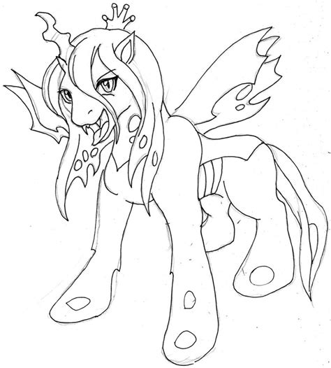 Queen Chrysalis Coloring Pages Chrysalis Coloring Pages