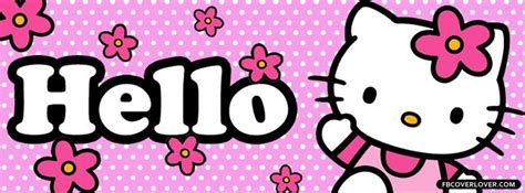 imagenes de hello kitty graciosas hello kitty pink polka dots facebook cover fbcoverlover com