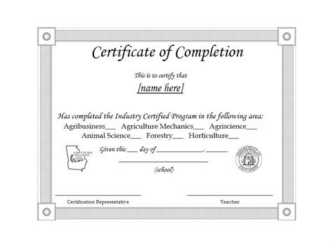 40 Fantastic Certificate Of Completion Templates Word Powerpoint Certificate Of Completion Template