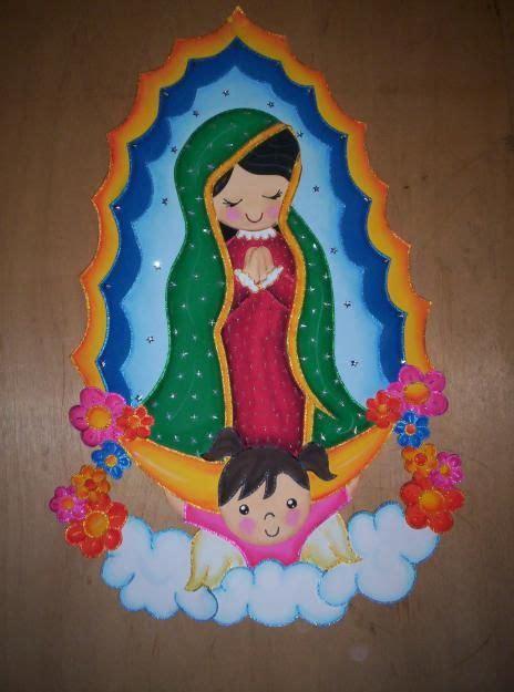 manualidades de la virgen maria imagenes hechas en foami de la virgen de guadalupe