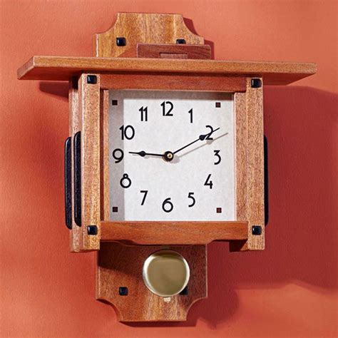 greene greene wall clock woodworking plan gifts