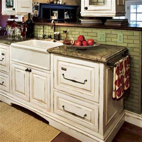 Antique Finish Kitchen Cabinets Antiquing Cabinets Using Stain Or Glaze The Practical House Painting Guide Kitchen Cabinet Ideas