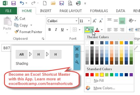 excel fill color shortcut excel highlight cell fill color shortcut become a