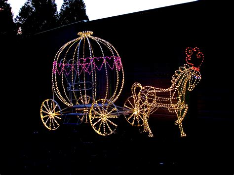 lighted christmas horse and carriage 3d lighted princess carriage