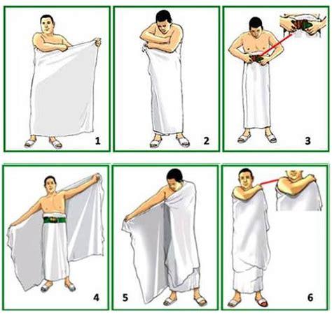 tutorial umroh lengkap gambar cara memakai baju haji jenis pakaian kantor yang