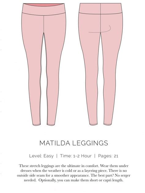 Pattern Leggings Sewing | matilda leggings free pattern spit up stilettos