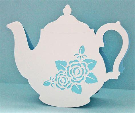 free teapot shaped card template vintage teapot card free cut file