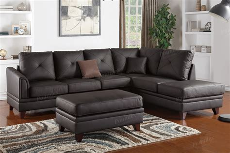Genuine Leather Sectional Sofa by Genuine Leather Sectional F6874 Bb S Furniture Store