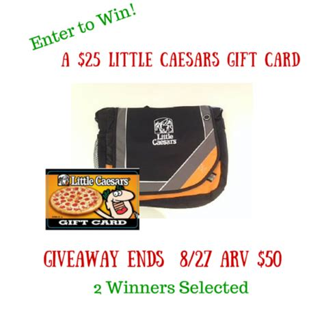Caesars Entertainment Gift Card - little caesars 25 gift card and bag giveaway