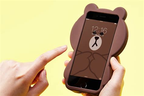 Iphone 6 6s 3d Silicone Line Brown Cony Striped Cowboy T1910 4 line friends mega brown cony character silicone
