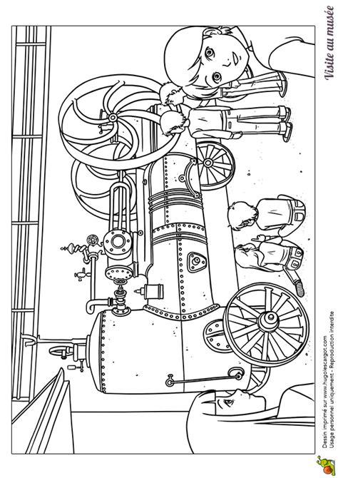 dessin bateau a vapeur coloriage visite au mus 233 e machine a vapeur