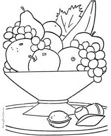 Galerry fruit coloring papers