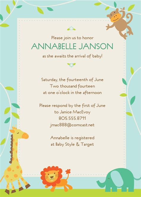 evite template free baby shower invitation templates wblqual