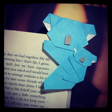 How To Make A Origami Koala - origami koala and cub bookmark origami
