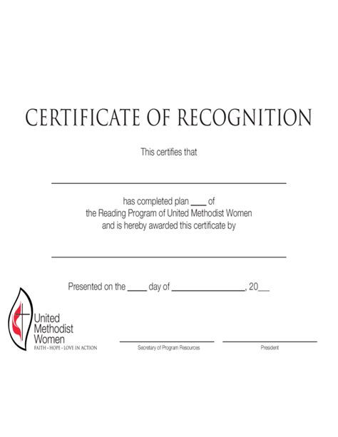template certificate of recognition simple certificate of recognition template free