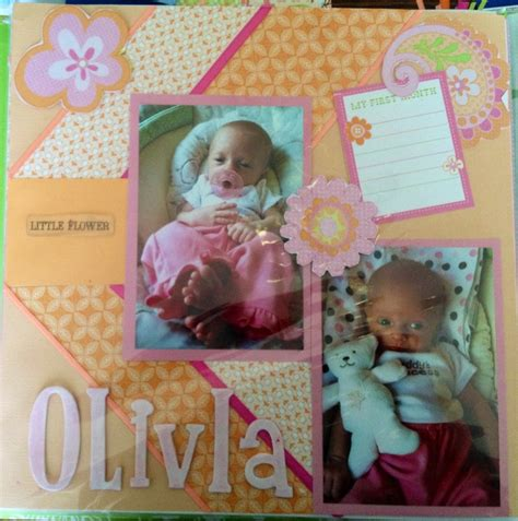 scrapbook layout for baby baby scrapbooking layout scrapbooking pinterest