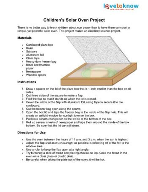 How To Make A Paper Oven - solar oven lovetoknow