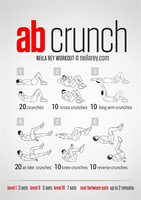 crunch workout for and health fitness board 100 workout ab workout neila