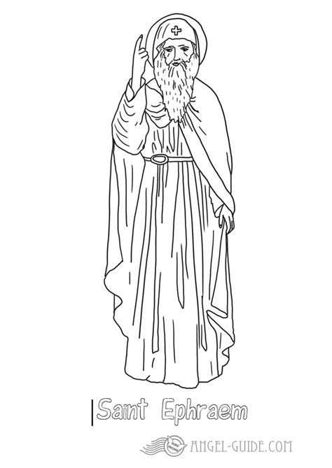 coloring page of catholic saints picture st ephraem catholic saints coloring pages st
