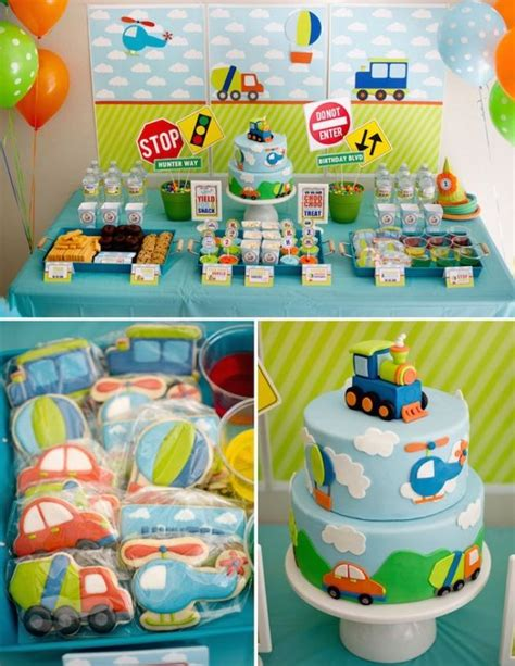 Boy's Transportation Themed Birthday Party   The mommy me   Pinterest   Themed birthday parties
