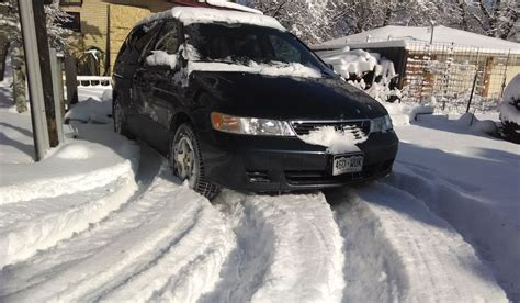 Minivan In Snow by All Wheel Drive Does Not Make You Safer