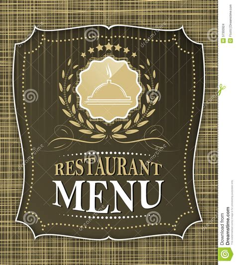 restaurant cover layout restaurant menu cover design in vintage style stock vector