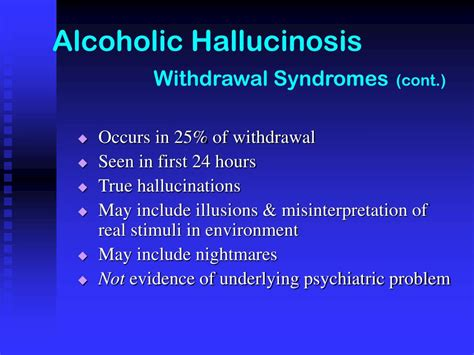 What Happens When You Detox Alchol And Hallucinate by Ppt Chapter Six Complications Powerpoint