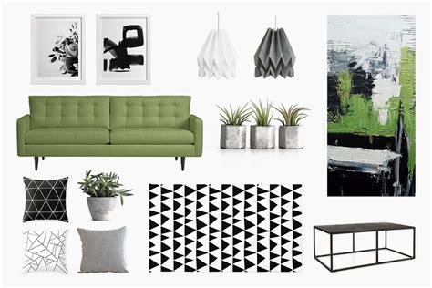 green black and white living room an living room black white green belivindesign