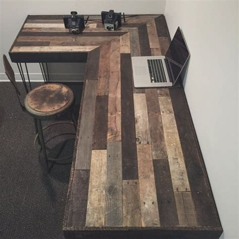rustic l shaped computer desk best 25 rustic desk ideas only on rustic