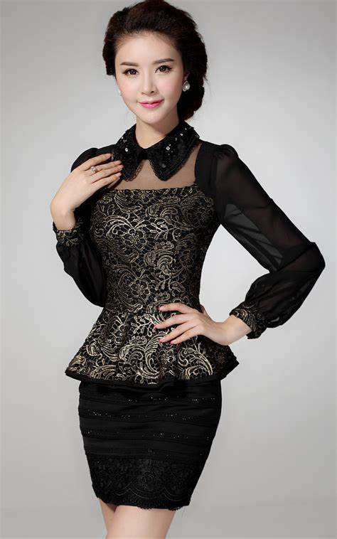 Black Blouse Sleeve Womens by Black Blouses For Fashion Ql