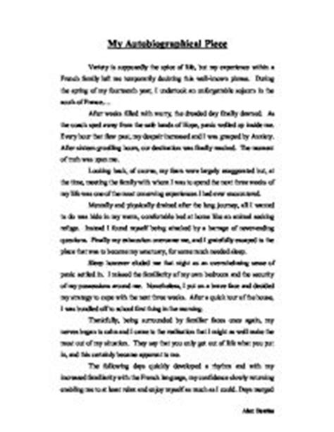 my biography essay exle life story essay