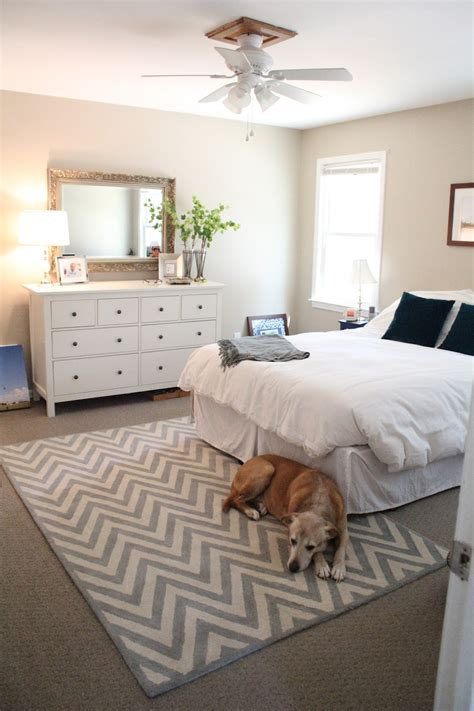 Bedroom Rug Placement Ideas Ten June Our Rental House A Master Bedroom Tour