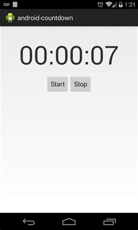 android countdown timer github viniciusmo android countdown joda time exle