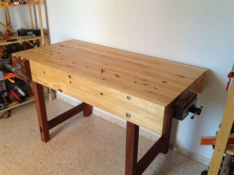 woodworking shop benches daniel s woodworking bench the wood whisperer